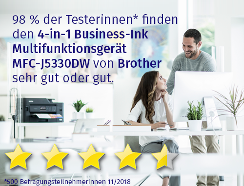 4-in-1 Business-Ink Multifunktionsgerät MFC-J5330DW von Brothe