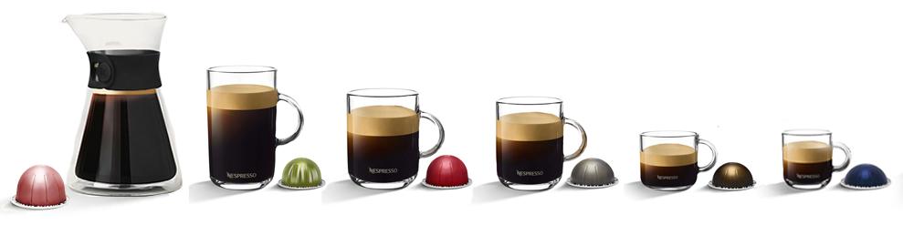 Die neue Nespresso Vertuo Next Kaffeevielfalt